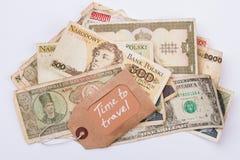 旅行概念的货币 免版税库存照片