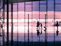 旅行概念,人们在机场 库存图片