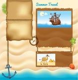 旅行模板的背景 免版税库存照片
