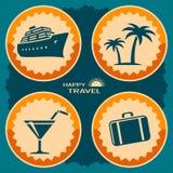 旅行海报设计 免版税库存图片