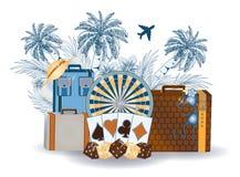 旅行热带夏天赌博娱乐场背景 免版税库存图片