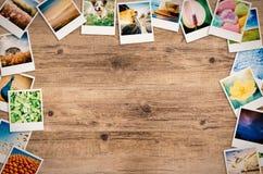 旅行照片拼贴画 免版税库存照片