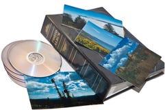 旅行照片CD和册页 库存照片