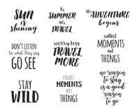 旅行生活方式启发引述字法 诱导印刷术 书法图形设计元素 库存照片