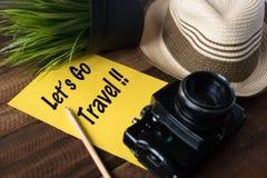 旅行癖-旅行概念 让` s去旅行 免版税图库摄影