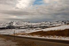 旅行的冬天 库存图片