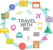 旅行的和计划的假期 库存例证