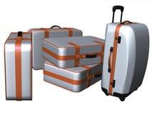 旅行的手提箱 免版税图库摄影