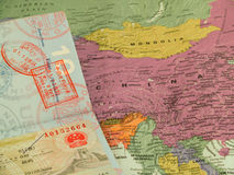 旅行的瓷 免版税库存照片