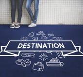 旅行的目的地旅途假日概念 免版税库存图片