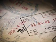 旅行的移民和签证 免版税库存图片
