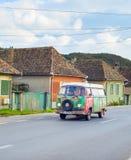 旅行的罗马尼亚乘露营车汽车 图库摄影