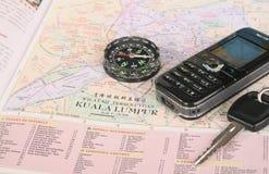 旅行的计划 图库摄影