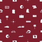 旅行的象无缝的样式eps10 免版税库存照片