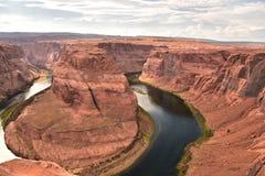 旅行的马掌弯目的地在美国 库存图片