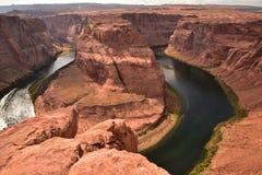旅行的马掌弯目的地在美国 免版税图库摄影