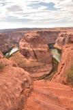 旅行的马掌弯目的地在美国 免版税库存图片