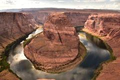 旅行的马掌弯目的地在美国 免版税库存照片