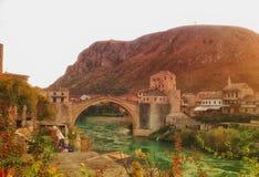 旅行目的地在波斯尼亚 图库摄影