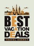 旅行社 向量例证