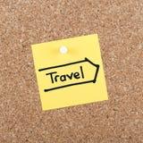 旅行笔记 库存图片