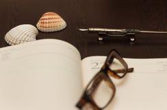 旅行笔记 库存照片