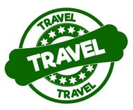 旅行绿色邮票 库存照片
