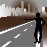旅行者和城市 免版税库存图片