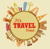 旅行背景 向量例证