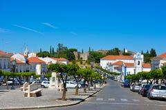 旅行葡萄牙,阿连特茹地区,维拉Vicosa古雅村庄,教会,城堡 免版税图库摄影