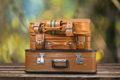 旅行袋子 免版税库存照片