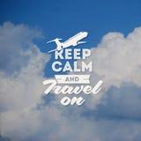 旅行设计有云彩背景 免版税图库摄影