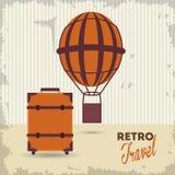旅行设计 旅游业象 鸟逗人喜爱的例证集合葡萄酒 免版税库存照片