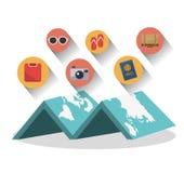 旅行设计 向量例证