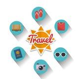 旅行设计 库存例证