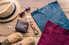旅行辅助部件打扮旅行的费用 图库摄影
