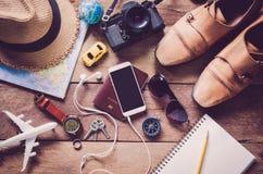 旅行辅助部件服装 旅行的费用 库存照片