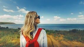 旅行通勤者目的地旅游浏览概念 库存图片