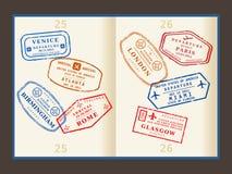 旅行邮票 免版税库存照片