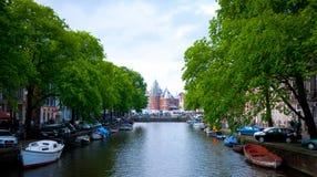 旅行阿姆斯特丹市荷兰欧洲 免版税图库摄影