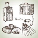 旅行集合 免版税库存照片
