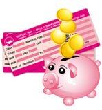 旅行预算。 免版税库存图片