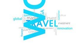 旅行,印刷术动画 向量例证
