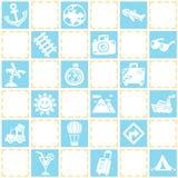 旅行/假期样式题材蓝色无缝的背景  库存图片