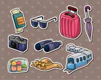 旅行贴纸 图库摄影
