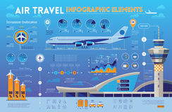 旅行infographics元素 库存图片