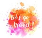 旅行watercolored飞溅 免版税库存图片