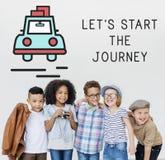 旅途冒险探索探险旅行概念 库存图片