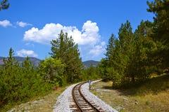 旅途在Sarganska Osmica (Shargan八) -塞尔维亚 库存图片