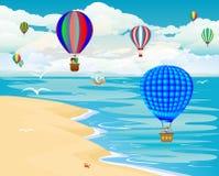 旅途气球 免版税库存照片